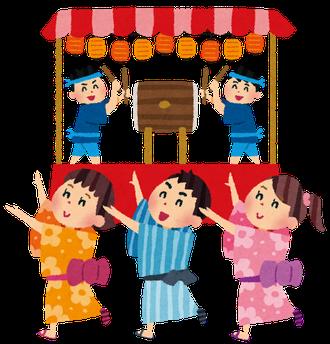 いらすとや盆踊り-四谷納涼踊り大会-盆踊り