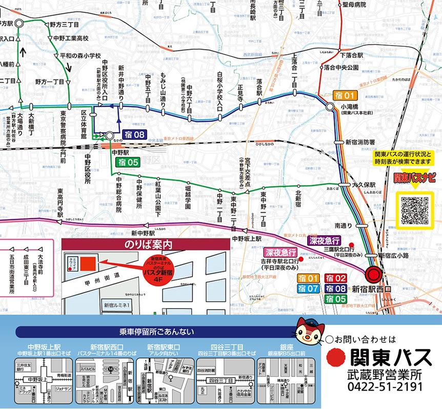 路線 時刻 表 関東 図 バス